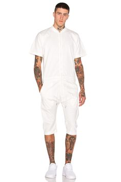 Shop for Men's Designer Shorts at REVOLVE CLOTHING. Find stylish Cargo Shorts, Sweat Shorts, Swim Shorts, Chino Shorts and more from top fashion labels! Mens Coveralls, Wedding Rompers, One Piece Man, All White Outfit, Boiler Suit, Vogue, Men Looks, Jumpsuits For Women, Mens Fashion