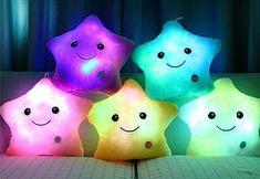Rainbow Fox LED-Licht Weiß Plüsch-Kissen-Kissen Camping Reise weiches Kissen: