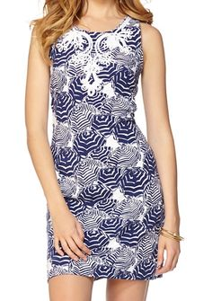 Lilly Pulitzer Foster Knit Shift Dress in Oh Cabana Boy