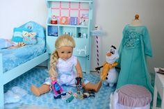 American Girl Doll Disney Frozen Elsa's Bedroom
