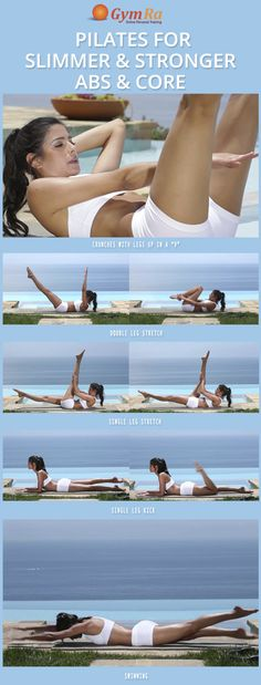 Pilates Workout for toned abs & a stronger core. Burn fat while toning & tightening.