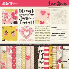 Snap Click Supply Co. - Love Stories Paper Pack, $3.99 (http://www.snapclicksupply.com/love-stories-paper-pack/)