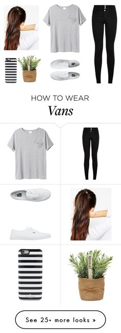 """Simple"" by pink-flowergirl on Polyvore featuring Vans, AR SRPLS, ASOS and Kate Spade"