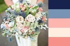 dark blue & peach wedding - Google Search