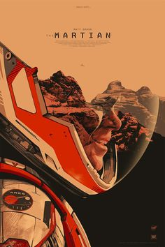 Oliver Barrett's poster for The Martian More More