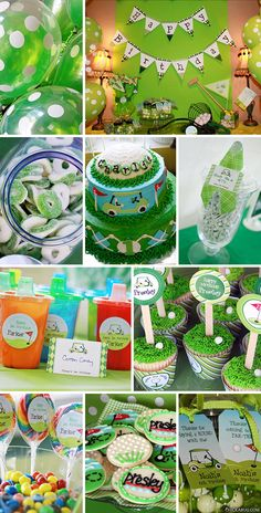 New in the shop: Golf birthday party printables kit! | Chickabug