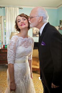 A vintage wedding in Miami 1.26.13 -- bride & father of the bride