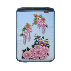 Wisteria and peonies spring blossom MacBook sleeve