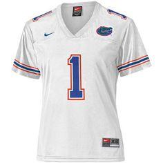 Nike Florida Gators Women's #1 Replica Football Jersey - White