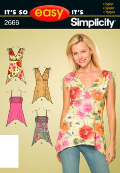 It's So Easy Sewing Patterns : : Simplicity Patterns : Misses Knit Tops