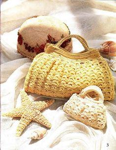 Crochet purses.