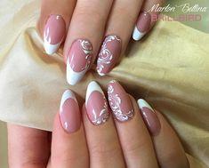BrillBird Love Nails, Fun Nails, Types Of Nails, Nailart, Nail Designs, Bridal, Wedding, Molde, Cute