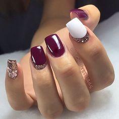 Burgundy Acrylic Nails, Teal Nails, Rose Gold Nails, Bridal Nails, Wedding Nails, Opi Nail Polish Colors, Wine Nails, Sculpted Nails, Diy Nail Designs