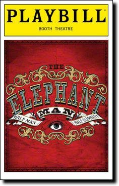 The Elephant Man Playbill Covers on Broadway - Information, Cast, Crew, Synopsis and Photos - Playbill Vault