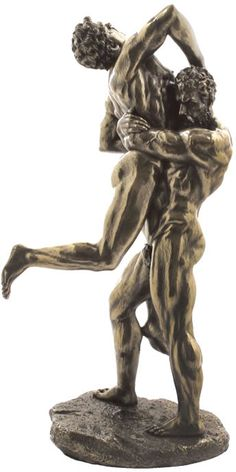 Hercules And Antaeus Statue Sculpture Figurine from the Greek and Roman Reproduction Art Sculpture Collection available at AllSculptures.com Bronze, Roman Sculpture, Sculpture Art, Smart Art, Gay Art, Simple Art, Traditional Art, Fantasy Art, Cuttings