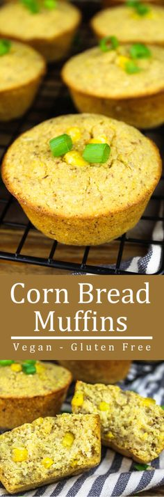 These Gluten Free Vegan Cornbread Muffins are subtly sweet, moist and crumbly. They are made with pure & simple ingredients that you probably have in your pantry now.
