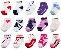 New 3-6 months Unisex Infant Variety Pattern Cotton Toddler Socks (15 options) #MIRINE #AnkleSocks