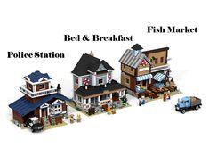 LEGO Ideas - Police Station - Bed & Breakfast - Fish Market
