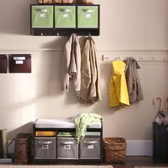 How to create an organized entryway for storing items when you walk in the door.