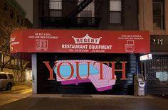 'Murals on the Bowery,' Organized by Art Production Fund Roller Doors, Roller Shutters, Adam Pendleton, Sylvie Fleury, Dana Schutz, Michael Craig, Daniel Buren, Barbican, Restaurant Equipment