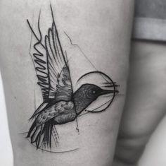 Sketch style hummingbird by Frank Carrilho