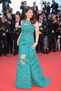 Aishwarya Rai in Elie Saab  - Cannes Film Festival 2015: Red Carpet | Harper's Bazaar