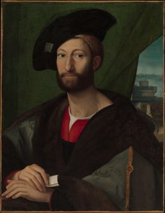 Giuliano de' Medici (1479–1516), Duke of Nemours Artist: Copy after Raphael (16th century) Medium: Tempera and oil on canvas Dimensions: 32 3/4 x 26 in. (83.2 x 66 cm) Classification: Paintings Credit Line: The Jules Bache Collection, 1949 Accession Number: 49.7.12