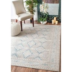 nuLOOM Traditional Ornamental Diamonds Taupe Rug (7'10 x 10'10) - 17854707 - Overstock - Great Deals on Nuloom 7x9 - 10x14 Rugs - Mobile