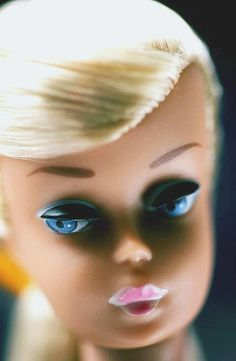 Platinum Swirl Barbie Doll, circa 1964 {tan complexion, pink lips and golden platinum hair}