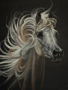 Click visit link above for more details Pretty Horses, Beautiful Horses, Animals Beautiful, Horse Drawings, Animal Drawings, Arte Equina, Arabian Art, Horse Mane, Watercolor Horse