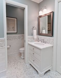 Wall color is Benjamin Moore Imperial Gray.  Very nice mid blue gray.