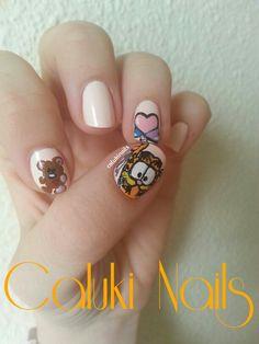 Nail art #RetoCartoonNetwork, Garfield