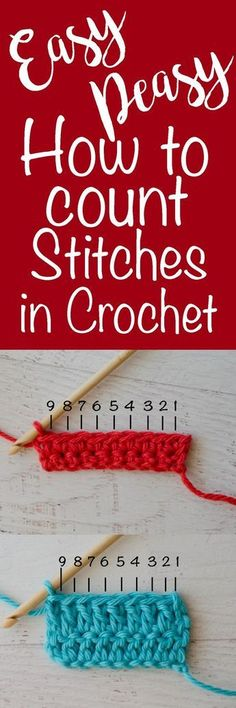 How To Count Stitches In Crochet - Crochet 365 Knit Too Love this! How to Count Stitches in Crochet Always wanted to .