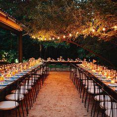 Inspiración bodas al aire libre. Carpas, entoldados, arboles y telarañas de luces!