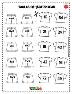 Evangelina gentiletti s 381 media analytics – Artofit Math Multiplication Worksheets, Kids Math Worksheets, Math Activities, Math For Kids, Fun Math, Math Sheets, Math School, Primary Maths, Homeschool Math