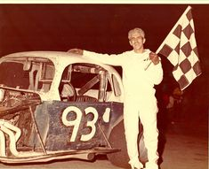 Gary Iulg's number was but he had a black-and-white coupe in and in he raced a Corvair. Old Race Cars, Checkered Flag, Vintage Race Car, Car Makes, Car And Driver, Some Pictures, Track, Black And White, Color
