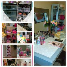 My makeup table make over. #diy #makeuptable #vanity #makeuptablediy #makeup #blogger #beautyblogger
