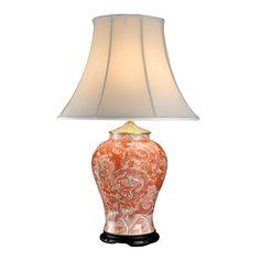 Orange Dragon Temple Jar Lamp   Table & Desk Lamps   Lamps   Home Decor   ScullyandScully.com