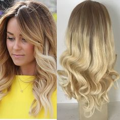 Full Shine 18 inch Dark Roots Human Hair Wig Pastel Remy Front Lace Wig Human Hair Wavy Wigs For Women Ombre Color 6 Fading to Blonde Real Hair Wig >>> This is an Amazon Affiliate link. Check out this great product.