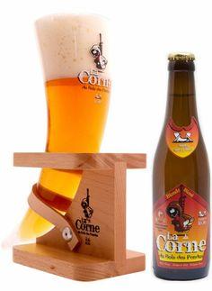 Cerveja La Corne du Bois des Pendus Blonde, estilo Belgian Blond Ale, produzida por Brasserie d'Ebly, Bélgica. 5.9% ABV de álcool.