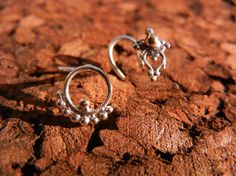 Nose Stud Gold and silver handcrafted tribal nose by BeleafJewelry, $40.00