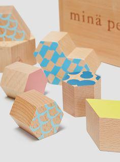Tsumiki Building Blocks Light Brown Mix