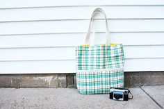 summer madras tote pattern