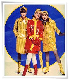 a vintage rain coat!!