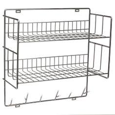 Double Shelf, Chrome - Maze - Maze - RoyalDesign.com $200