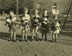 Children w/ Mickey Mouse dolls (1930's)