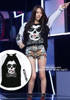 K-POP Show Skulls Top --->ULTRA wichtig!