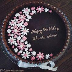 Birthday Cake For Women Simple, Elegant Birthday Cakes, Birthday Cake With Flowers, Beautiful Birthday Cakes, Happy Birthday Cakes, Flower Birthday, Purple Birthday, Women Birthday, Butterfly Birthday