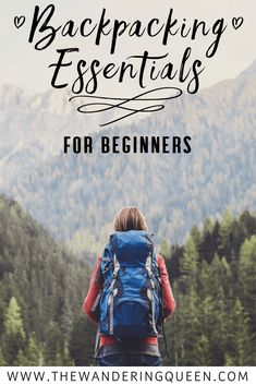Click here for backpacking essentials for beginners. This includes hiking /backpacking/camping equipment for women that wants to experience more of the outdoors. This list includes gear like sleeping bags, sleeping pad, tents, clothes, foods, and so much more!