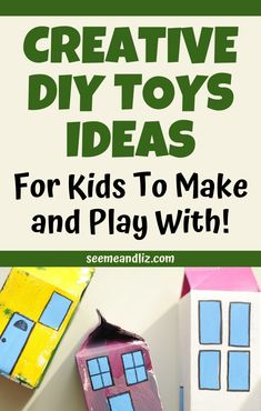 These fun crafts for kids are easy to do at home. The best part is that the crafts end up being toys that kids can then play with. Perfect for hands on learning at home! Diy Crafts For Kids Easy, Easy Arts And Crafts, Summer Crafts For Kids, Toddler Crafts, Toddler Stuff, Kids Crafts, Outdoor Activities For Kids, Infant Activities, Free Activities